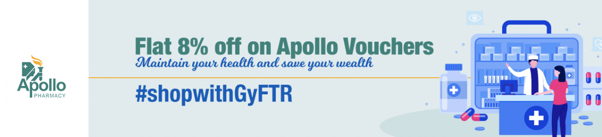 Buy Apollo Pharmacy Gift Vouchers at Discounted Price