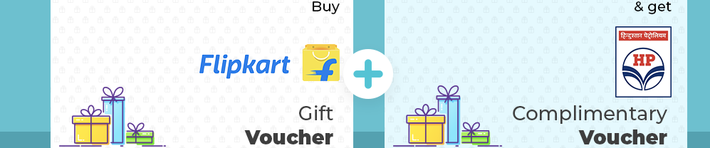 Buy Flipkart Gift Vouchers and Get HP Petro Gift Card